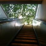 Quando saio do metrô e chego a Sorbonne