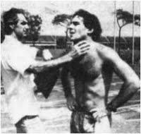 Nuno e Senna em treinamento